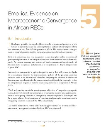 Empirical Evidence on Macroeconomic Convergence in ... - MCLI