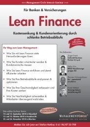 Lean Finance - tks operational excellence