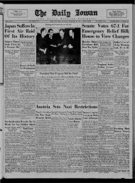 February 24 - The Daily Iowan Historic Newspapers - University of ...