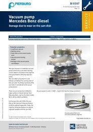 SI 0107 - Vacuum pump Mercedes Benz diesel - MS Motor Service ...