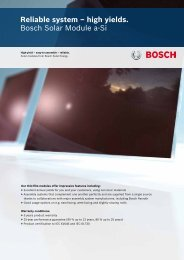 Reliable system – high yields. Bosch Solar Module a-Si