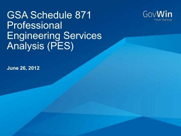 GSA Schedule 871 Professional Engineering Services ... - GovWin