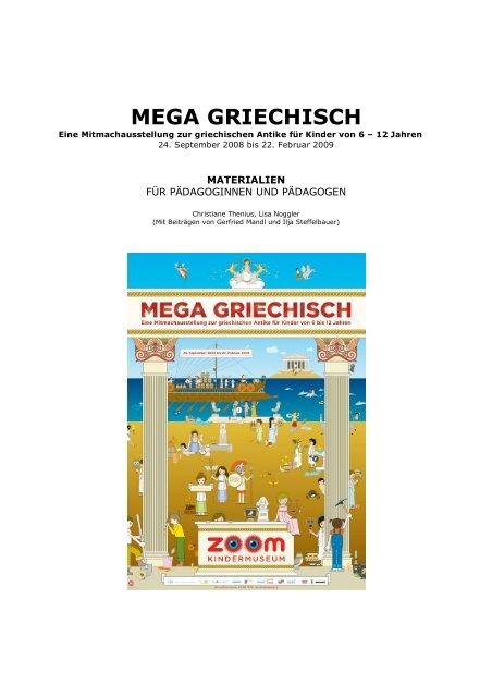 MEGA GRIECHISCH Begleitmaterialien - Zoom Kindermuseum