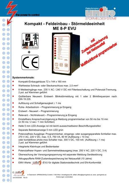 ME 8-P EVU - SPRINGSHOLZ GmbH