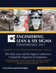 Engineering Lean & Six Sigma - Institute of Industrial Engineers