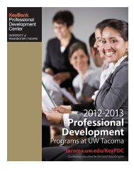 Professional Development - University of Washington Tacoma