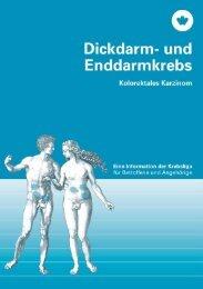 Broschüre - Dickdarm- und Enddarmkrebs - Krebsliga Schweiz