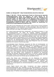 Pressemitteilung 2012 05 08 - Startpunkt57