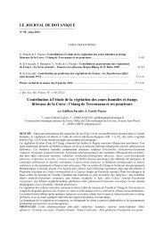 LE JOURNAL DE BOTANIQUE - Tela Botanica
