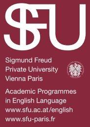 Sigmund Freud Private University Vienna Paris Academic ...
