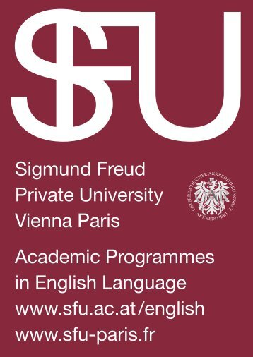 Sigmund Freud Private University Vienna Paris Academic ...