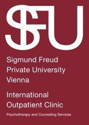 Sigmund Freud Private University Vienna International Outpatient ...