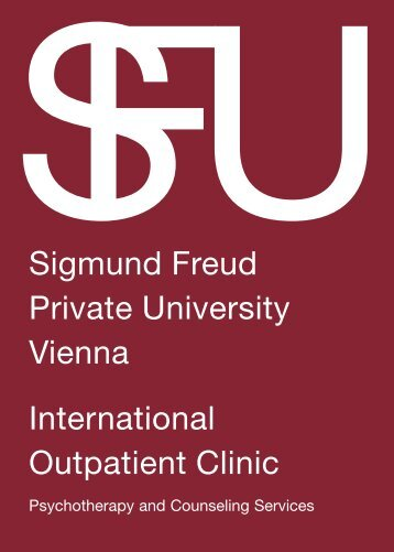 Sigmund Freud Private University Vienna International Outpatient ...