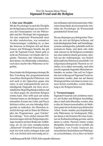 Sigmund Freud und die Religion