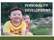 PERSONALITY DEVELOPMENT - E-Learning Center