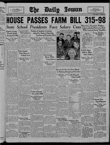 March 23 - The Daily Iowan Historic Newspapers - University of Iowa