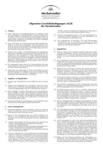 allgemeine geschftsbedingungen agb zehetner elektronik - Allgemeine Geschaftsbedingungen Muster