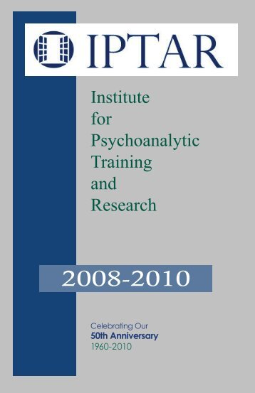 IPTAR Bulletin - Institute for Psychoanalytic Training and Research