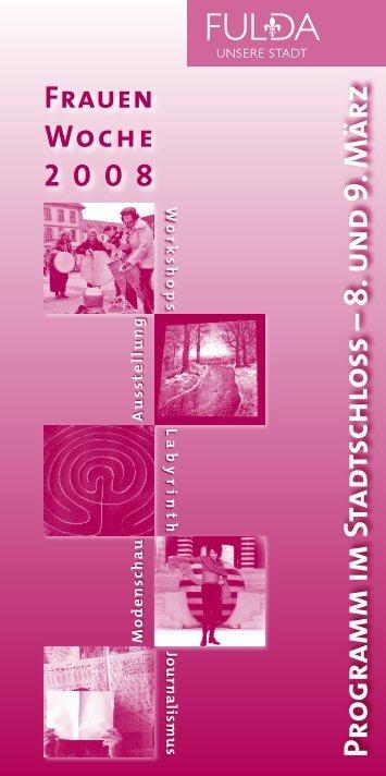 Programm Frauenwoche 2008 - in Fulda