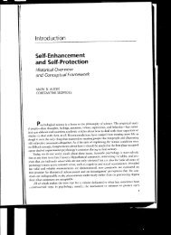Self-Enhancement and Self-Protection - University of Southampton