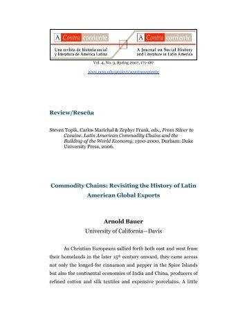 Latin American Commodity Chains - North Carolina State University