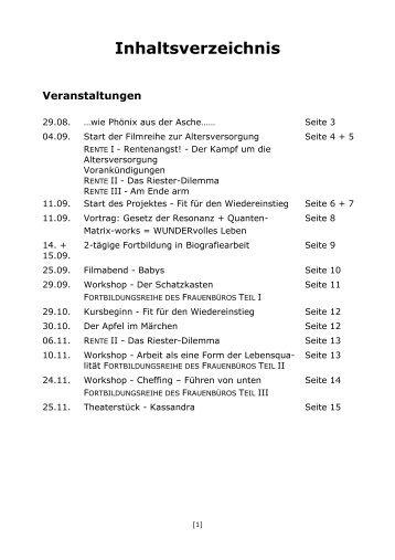 Programm 2. Halbjahr 2012 - in Fulda