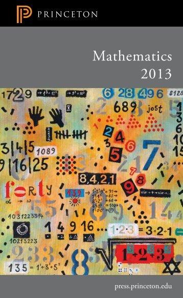 Mathematics 2013 - Princeton University Press