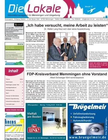 Download 01 Jan '12 - Lokale Zeitung Memmingen