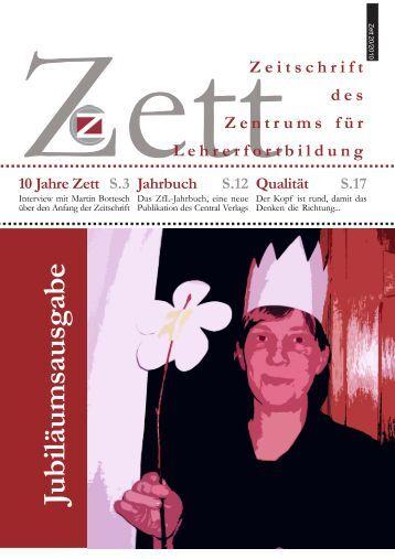 Jubiläumsausgabe - Zentrum für Lehrerfortbildung in deutscher ...