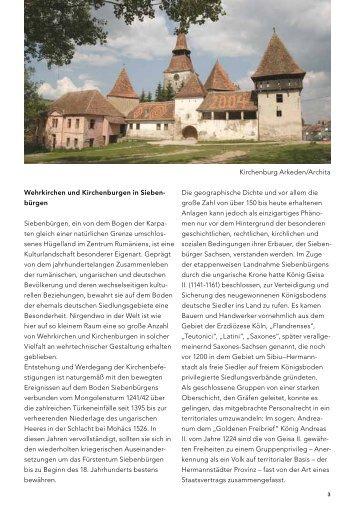 Wehrkirchen und Kirchenburgen in Sieben- bürgen Siebenbürgen ...