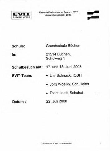 EVIT Abschlussbericht 2008 - Grundschule Büchen