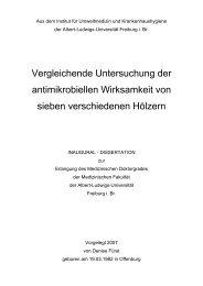 Vergleichende Untersuchung der antimikrobiellen Wirksamkeit von ...