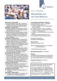 Mandelblüte auf der Insel Mallorca - MitReisen-eK GmbH ...