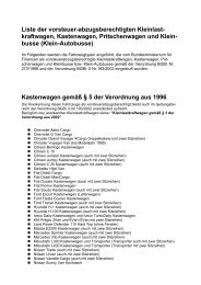 Liste der vorsteuer-abzugsberechtigten Kleinlast- kraftwagen