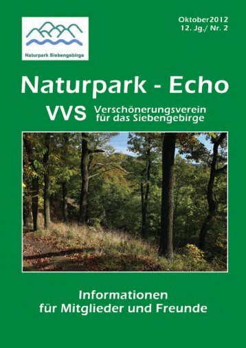 Naturparkecho 2/2012 - Naturpark Siebengebirge