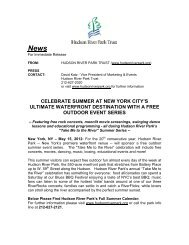 General Information for the Calendar: - Hudson River Park