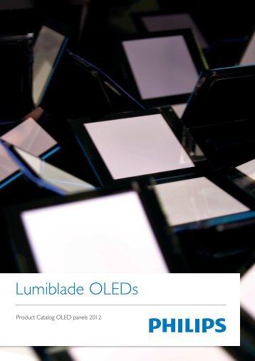 Product Catalog OLED panels 2012_03.indd - Lumiblade Shop