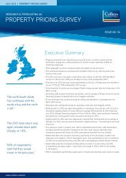 Property Pricing Survey | July 2012 - Colliers International