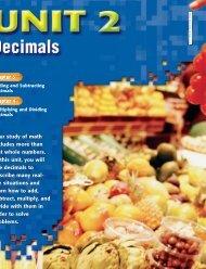 Adding and Subtracting Decimals - Margaret B. Pollard Middle School