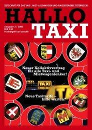 Neuer Kollektivvertrag für alle Taxi- und ... - bei Taxi 60160