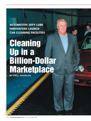 Cleaning Up in a Billion-Dollar Marketplace - Exchange Magazine