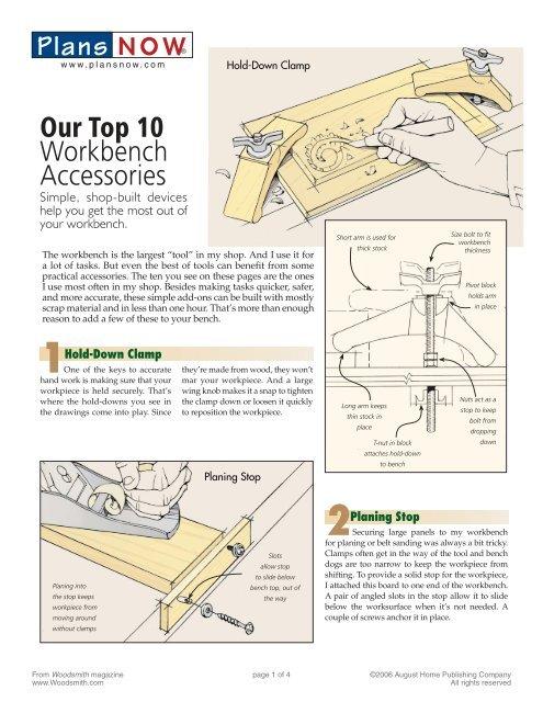 Plans NOW Our Top 10 Workbench Accessories - miketilt