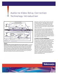 Audio-to-Video Delay Correction Technology Introduction - Tektronix