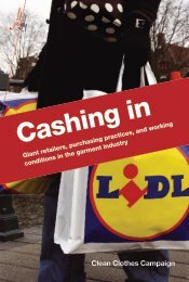 Cashing In - Clean Clothes Campaign