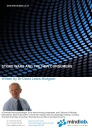 STORE WARS AND THE NEW CONSUMERS Written - Mindlab ...