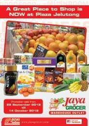 A Great Place to Shop is NOW at Plaza Jelutong - Jaya Grocer