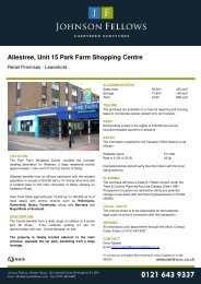 Allestree, Unit 15 Park Farm Shop Park Farm ... - Johnson Fellows