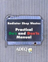 Radiator Repair Shop Manual - Arizona Department of ...