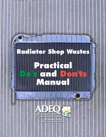 Radiator Repair Shop Manual - Arizona Department of ...