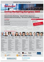 Deutscher Online Marketing Kongress 2009 - Horizont
